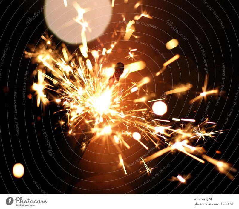 Sparks of Hope. Party Feste & Feiern glänzend ästhetisch Feuer leuchten bedrohlich Show Silvester u. Neujahr Zeichen heiß Club Risiko Veranstaltung brennen Überraschung