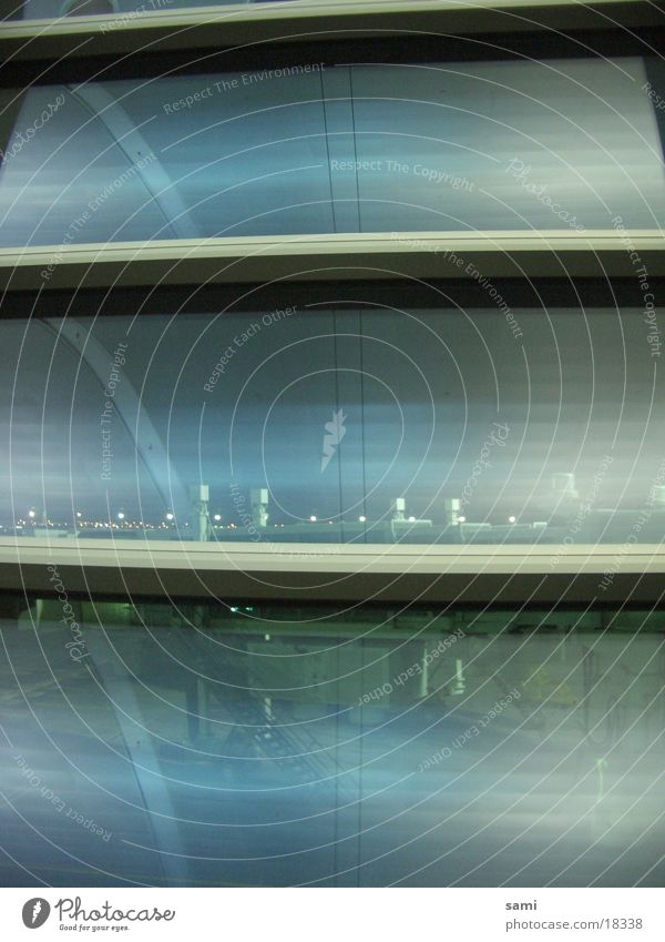 Dubai Airport Fenster Architektur Glas groß modern Flughafen