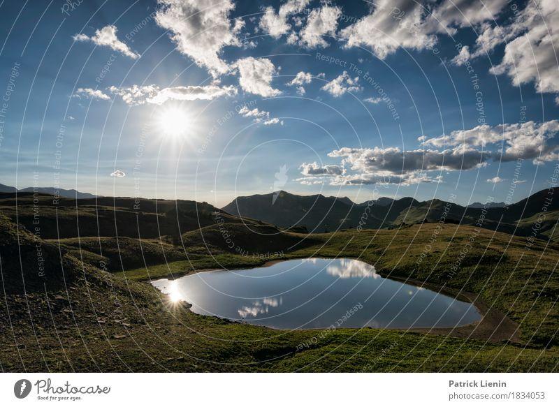 Himmel Natur Ferien & Urlaub & Reisen Sommer schön Sonne Landschaft Wolken Berge u. Gebirge Umwelt Gefühle Gras See Wetter USA Abenteuer