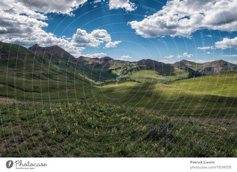 Mountain Time schön Ferien & Urlaub & Reisen Abenteuer Sommer Berge u. Gebirge wandern Umwelt Natur Landschaft Himmel Wolken Klima Wetter Schönes Wetter Baum