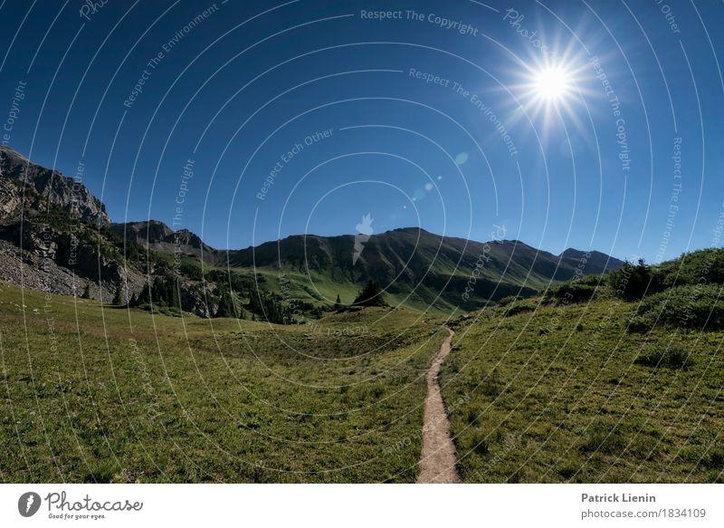 Sonnenweg Ferien & Urlaub & Reisen Tourismus Abenteuer Ferne Freiheit Expedition Sommer Berge u. Gebirge wandern Umwelt Natur Landschaft Himmel