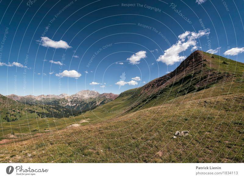 Frigid Air Pass Himmel Natur Ferien & Urlaub & Reisen Sommer Erholung Wolken ruhig Ferne Berge u. Gebirge Umwelt Wiese Freiheit Wetter Ausflug wandern Klima