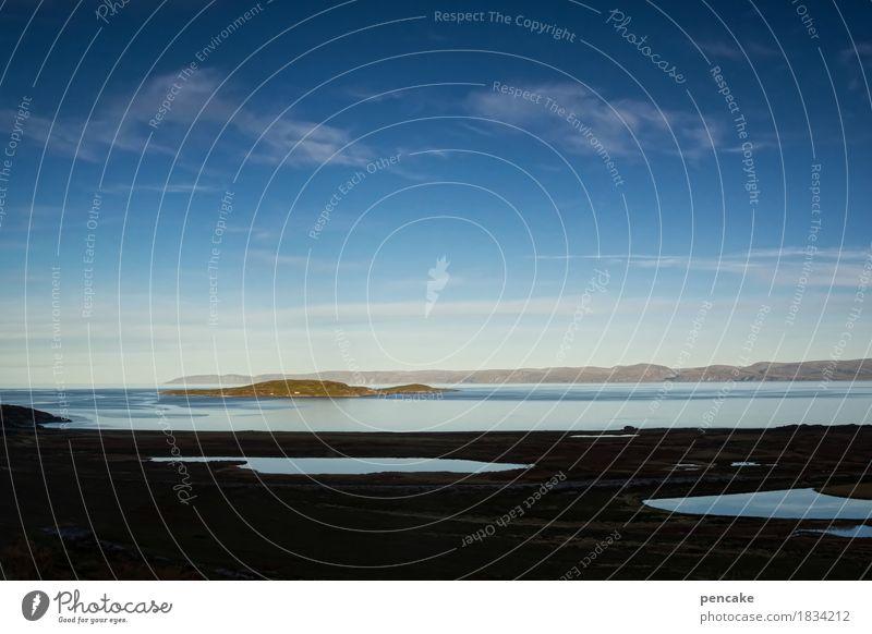 spirit of the north Himmel Natur Wasser Landschaft Herbst Horizont Erde Insel genießen Hoffnung Urelemente tief atmen Norwegen Fjord Spiritualität