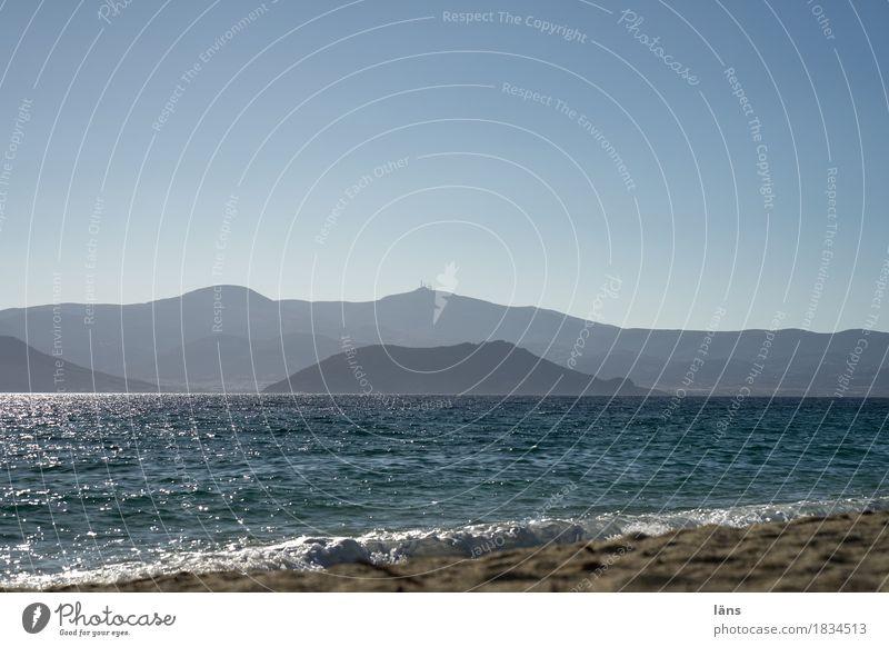 Sichtweite Himmel Ferien & Urlaub & Reisen blau Meer Strand Berge u. Gebirge Küste Tourismus Wellen Ausflug Insel Wolkenloser Himmel maritim
