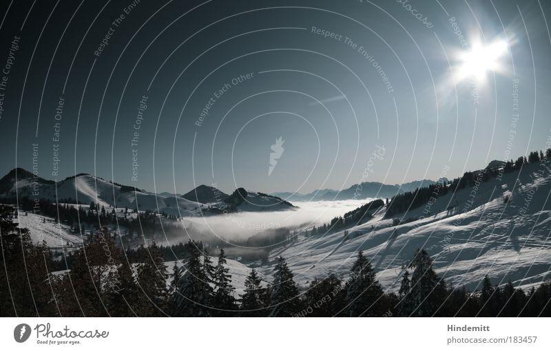 [reloaded] Wie der Sommer so der Herbst ... Natur blau schön weiß Sonne Einsamkeit Landschaft Winter schwarz kalt Berge u. Gebirge Schnee grau Kraft ästhetisch