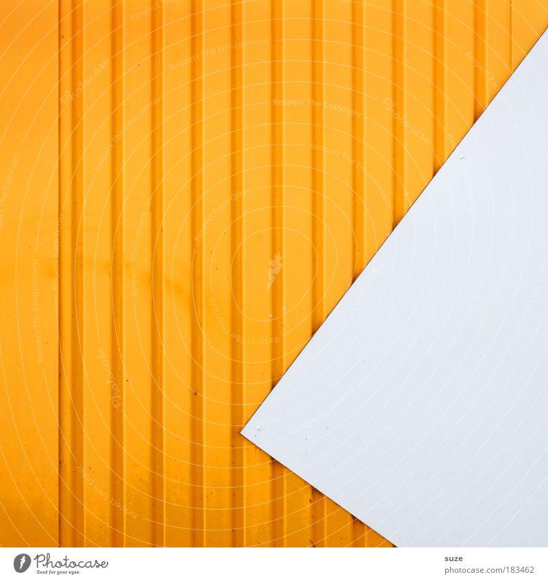 Vertical Stil Design Kunst Architektur Mauer Wand Fassade Linie Pfeil authentisch eckig einfach modern verrückt Spitze gelb weiß Grafik u. Illustration