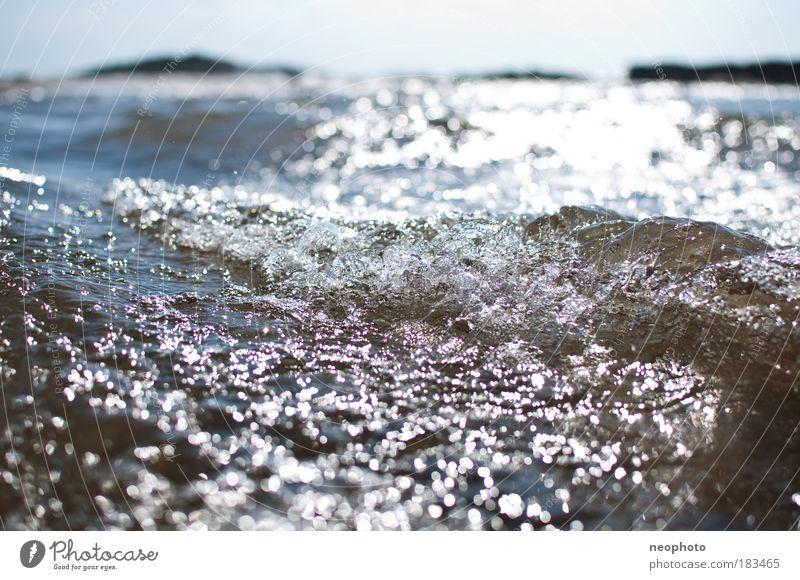Strömung Himmel Natur Wasser blau Meer Bewegung Küste braun berühren Flüssigkeit Atlantik