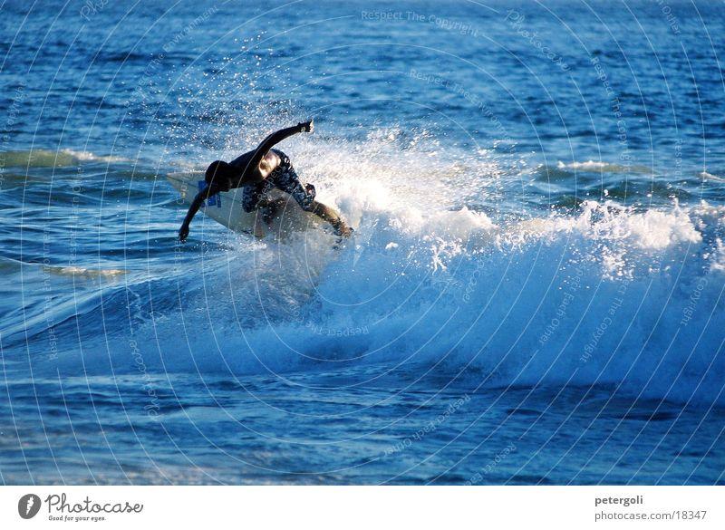 surf cnv000120 Surfen Wellen Meer Surfer Gegenlicht Puerto Escondido Sport Sonne Mexiko
