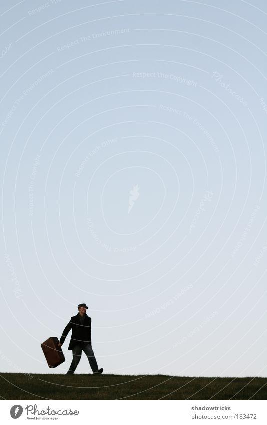 Einfach abhauen! Mensch Mann Jugendliche Ferien & Urlaub & Reisen Erwachsene Freiheit Junger Mann 18-30 Jahre Freizeit & Hobby maskulin 45-60 Jahre Silhouette