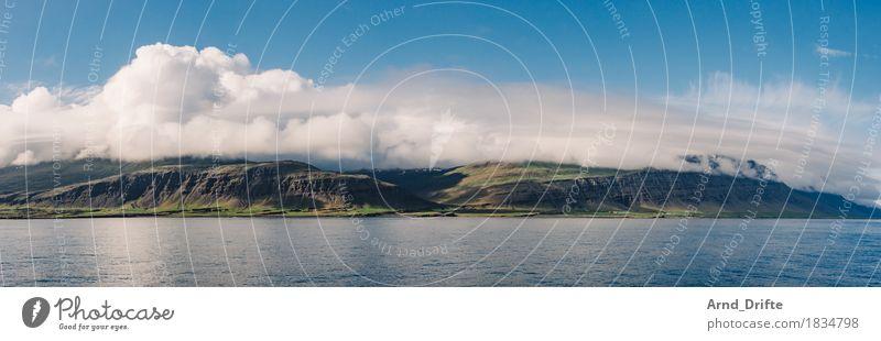 Island Ferien & Urlaub & Reisen Tourismus Ausflug Abenteuer Ferne Freiheit Meer Insel Wellen Natur Landschaft Himmel Wolken Frühling Sommer Klima Schönes Wetter