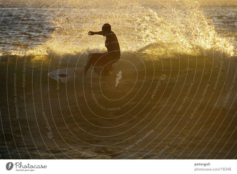 surf cnv000130 Surfen Wellen Meer Surfer Gegenlicht Puerto Escondido Sport Sonne Mexiko