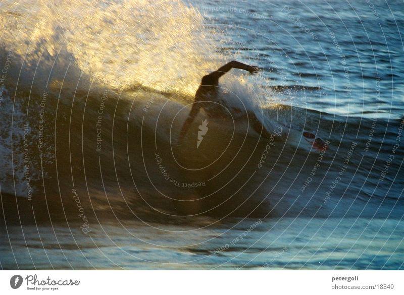 surf cnv000135 Surfen Wellen Meer Surfer Gegenlicht Puerto Escondido Sport Sonne Mexiko