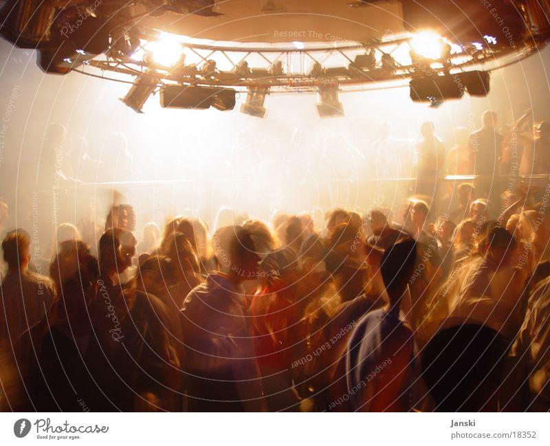Blinder Freude Party Club Disco Tanzen Feste & Feiern Technik & Technologie Mensch Tanzveranstaltung Bewegung hell weiß Wochenende Scheinwerfer Licht