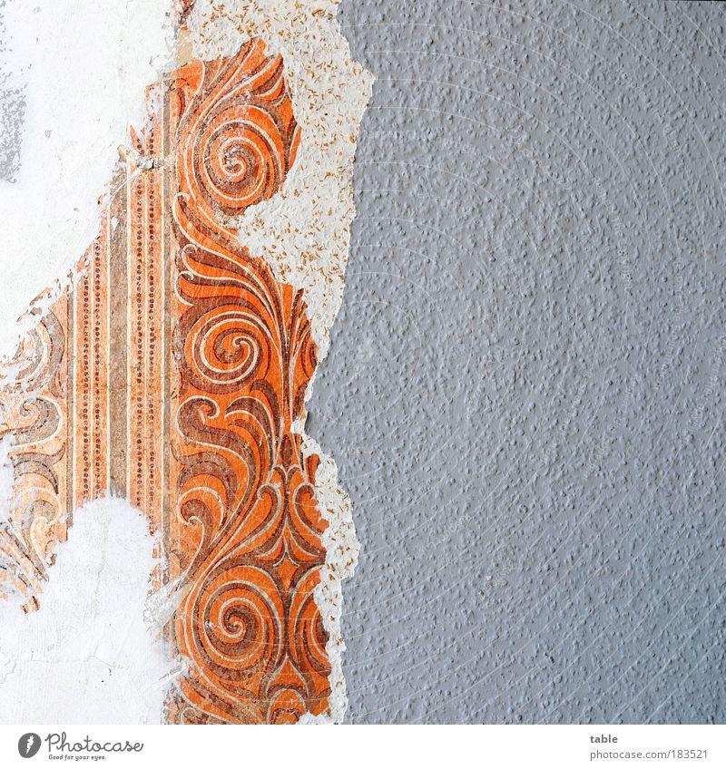 Abriß alt weiß Haus Arbeit & Erwerbstätigkeit Wand grau Mauer braun Raum Wohnung Beruf kaputt Wandel & Veränderung Kitsch Dekoration & Verzierung