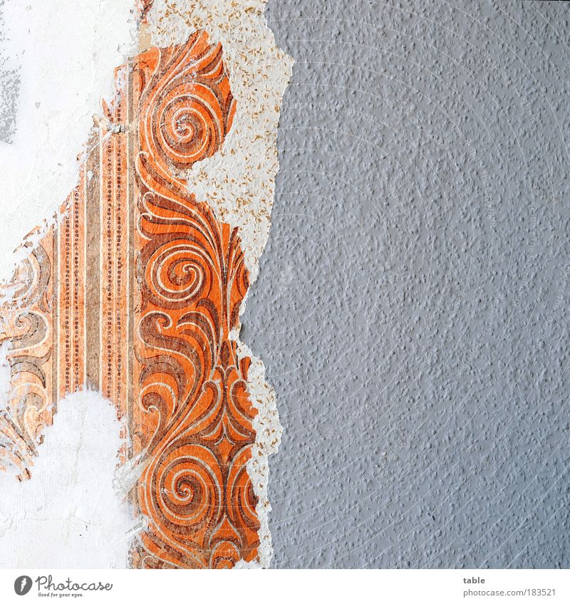 Abriß Farbfoto Menschenleer Textfreiraum rechts Häusliches Leben Wohnung Renovieren Dekoration & Verzierung Tapete Raum Arbeit & Erwerbstätigkeit Handwerker