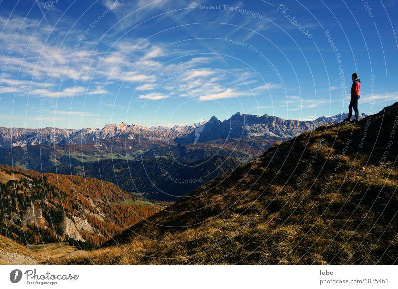 Wandern in Villnöss 2 Natur Ferien & Urlaub & Reisen Landschaft Ferne Berge u. Gebirge Umwelt Herbst Freiheit Felsen Tourismus wandern Ausflug Abenteuer Gipfel