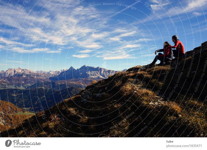 Wandern in Villnöss 1 Ferien & Urlaub & Reisen Tourismus Ausflug Abenteuer Ferne Freiheit Berge u. Gebirge wandern Klettern Bergsteigen Partner Herbst
