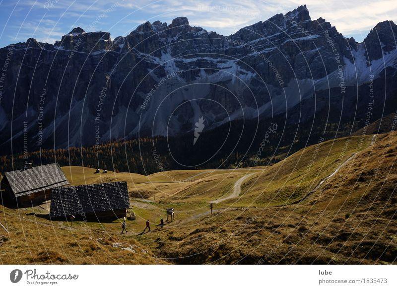 Wandern in Villnöss 7 Berge u. Gebirge wandern Herbst Klima Hügel Felsen Alpen Gipfel Schneebedeckte Gipfel Wege & Pfade Südtirol Dolomiten Bergwanderung