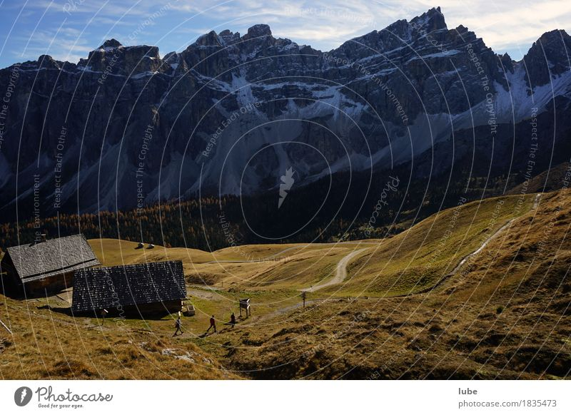 Wandern in Villnöss 7 Berge u. Gebirge Wege & Pfade Herbst Felsen wandern Klima Hügel Gipfel Alpen Schneebedeckte Gipfel