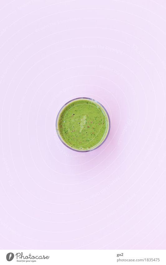 Smoothie grün Gesunde Ernährung Gesundheit rosa Ernährung frisch Glas ästhetisch rund Getränk lecker Bioprodukte Frühstück Vegetarische Ernährung Diät Fasten