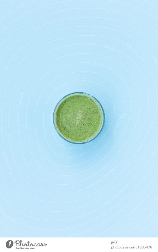 Smoothie blau grün Gesunde Ernährung Leben Gesundheit Lebensmittel Glas ästhetisch einfach rund Getränk trinken lecker Wohlgefühl Bioprodukte