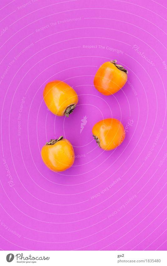 Kaki Farbe Gesunde Ernährung Essen Gesundheit orange Frucht Ernährung ästhetisch genießen süß violett lecker Bioprodukte Vegetarische Ernährung Kaki
