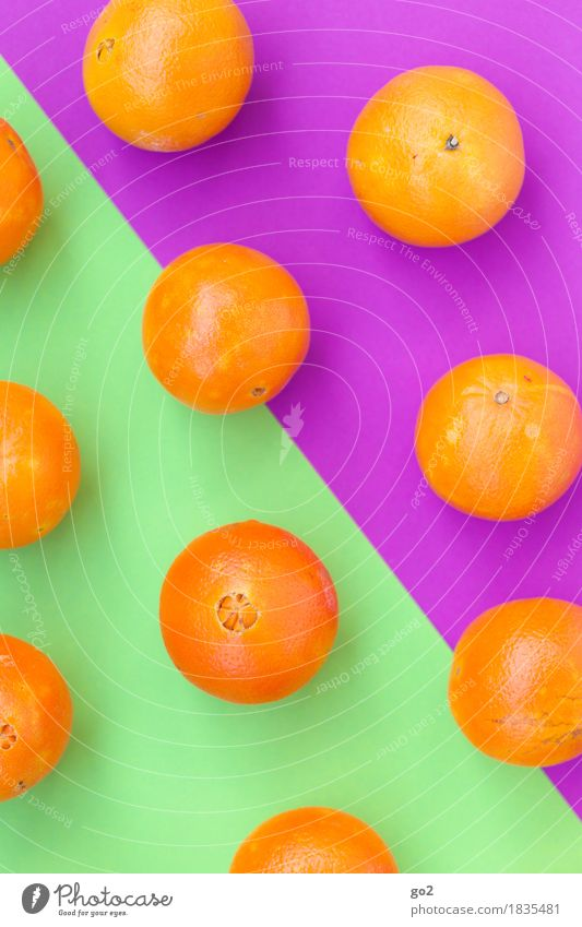 Orangen grün Gesunde Ernährung Freude Essen Leben Gesundheit Kunst außergewöhnlich Lebensmittel orange Design Frucht Ernährung frisch Orange ästhetisch