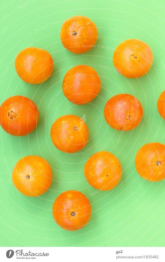 Orangen grün Gesunde Ernährung Essen Gesundheit Lebensmittel orange Frucht frisch ästhetisch Fröhlichkeit rund lecker viele Bioprodukte