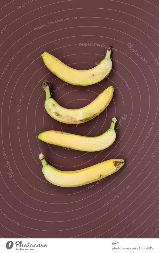 Bananen Lebensmittel Frucht Ernährung Essen Bioprodukte Vegetarische Ernährung Diät Fasten Gesunde Ernährung Gesundheit lecker braun gelb 4 Farbfoto