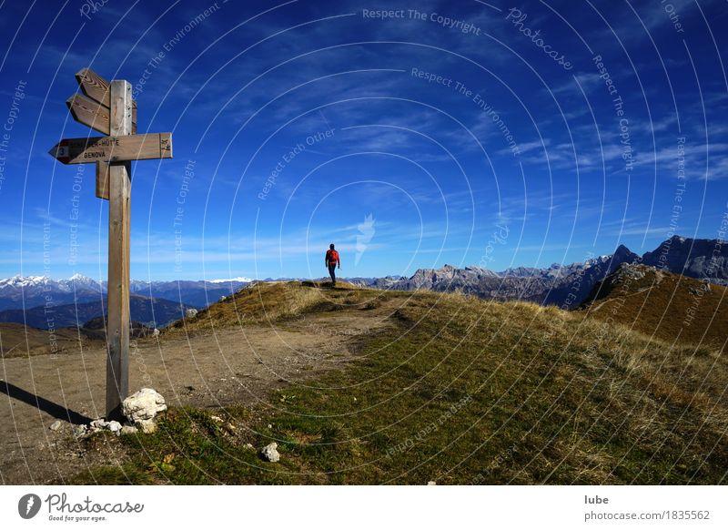 Wandern in Villnöss 3 Ferien & Urlaub & Reisen Tourismus Ausflug Abenteuer Ferne Freiheit Berge u. Gebirge wandern Klettern Bergsteigen Herbst Hügel Felsen