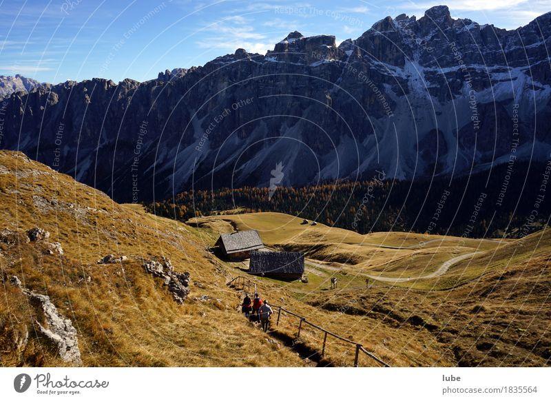 Wandern in Villnöss 5 Ferien & Urlaub & Reisen Tourismus Ausflug Abenteuer Ferne Berge u. Gebirge wandern Umwelt Natur Landschaft Herbst Klima Hügel Felsen