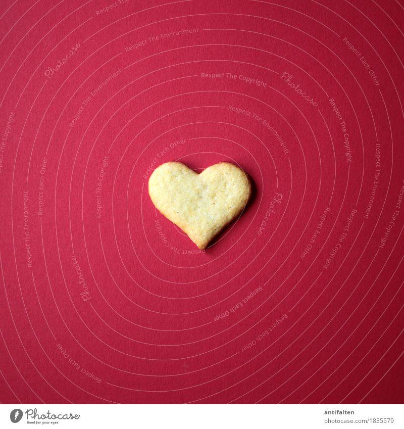 Herz Teigwaren Backwaren Keks Plätzchen Plätzchenteig Plätzchen ausstechen Ernährung Essen Kaffeetrinken Feste & Feiern Valentinstag Muttertag