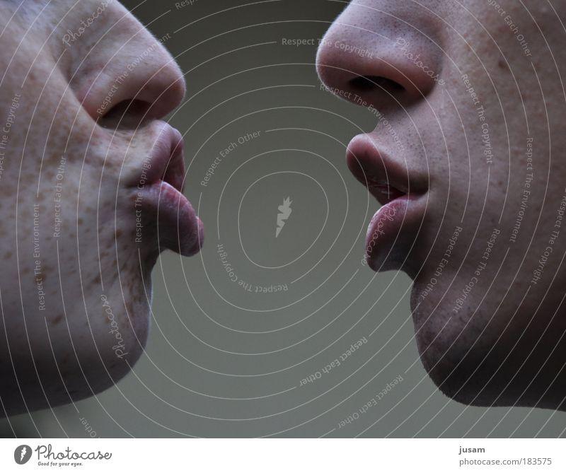 Unendliche Harmonie Mensch schön Erwachsene Gesicht Liebe feminin Gefühle Kopf Glück Stimmung Freundschaft Zufriedenheit Zusammensein Mund Mann Frau