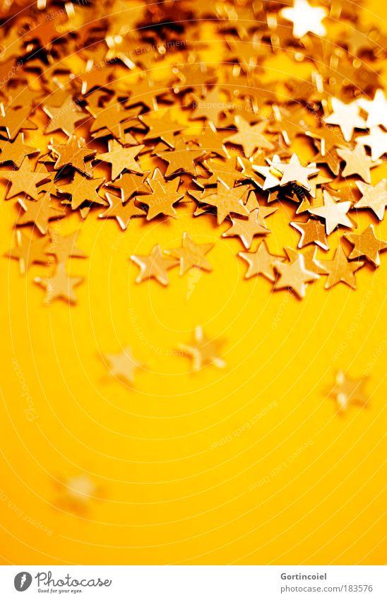 Sternregen Reichtum Winter Feste & Feiern Dekoration & Verzierung Stern (Symbol) glänzend schön gelb gold Stimmung Vorfreude schimmern Weihnachtsdekoration