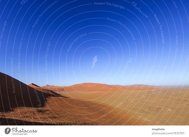Ausblick Ferien & Urlaub & Reisen Tourismus Ausflug Abenteuer Ferne Freiheit Safari Umwelt Natur Landschaft Urelemente Sand Himmel Wolkenloser Himmel Horizont