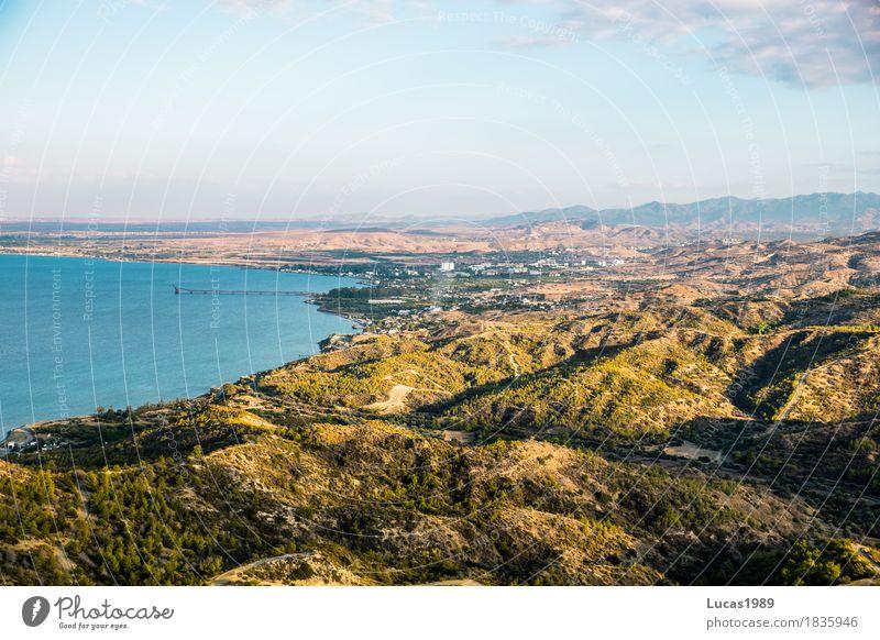 Nordzypern Ferien & Urlaub & Reisen Tourismus Sommerurlaub Umwelt Natur Landschaft Pflanze Himmel Wolken Sonne Sträucher Wiese Wald Hügel Berge u. Gebirge