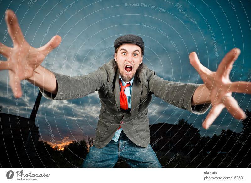 ehad stein shaaaaaalosh Hand wild verrückt Arme gefährlich Außenaufnahme Wut gruselig Mensch Gewalt schreien Hilferuf Aggression Spannung Hilfesuchend