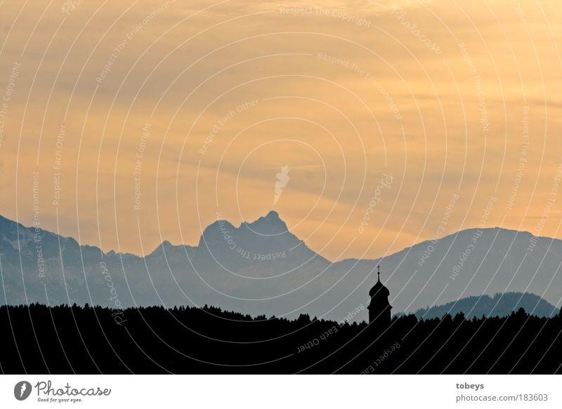 Tarnung Ferien & Urlaub & Reisen Tourismus Ausflug Sommerurlaub Winterurlaub Berge u. Gebirge Natur Landschaft Himmel Horizont Schönes Wetter Baum Wald Hügel