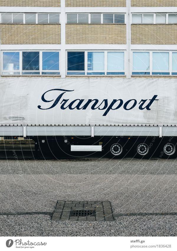 Transport-Unternehmen Haus Beruf Wirtschaft Güterverkehr & Logistik Verkehr Verkehrsmittel Straße Fahrzeug Lastwagen Schriftzeichen Business Handel Mittelstand