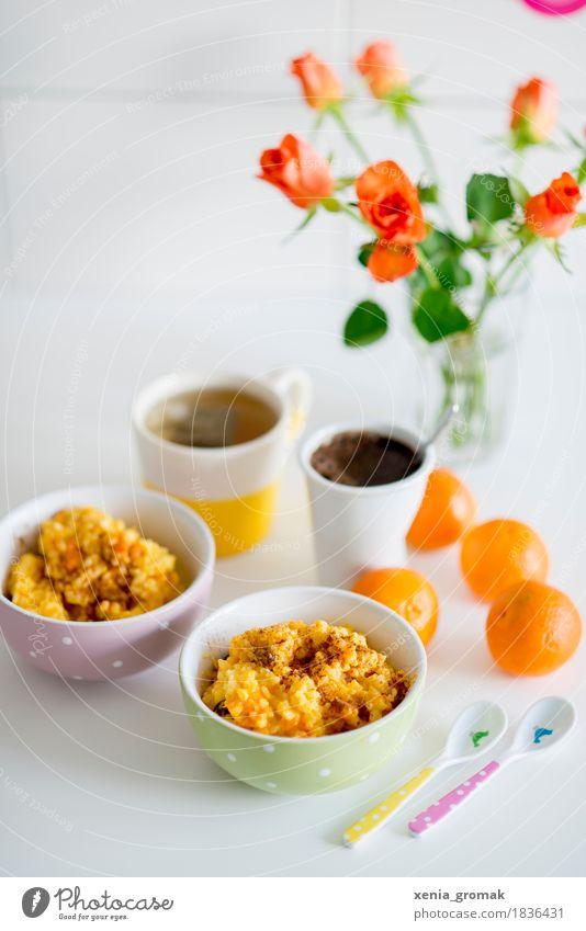 Frühstück für zwei Lebensmittel Frucht Getreide Dessert Ernährung Mittagessen Kaffeetrinken Bioprodukte Vegetarische Ernährung Diät Getränk Heißgetränk Tee