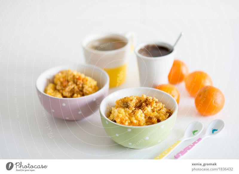 Milchreis Lebensmittel Milcherzeugnisse Frucht Orange Dessert Süßwaren Ernährung Frühstück Mittagessen Kaffeetrinken Vegetarische Ernährung Getränk Heißgetränk