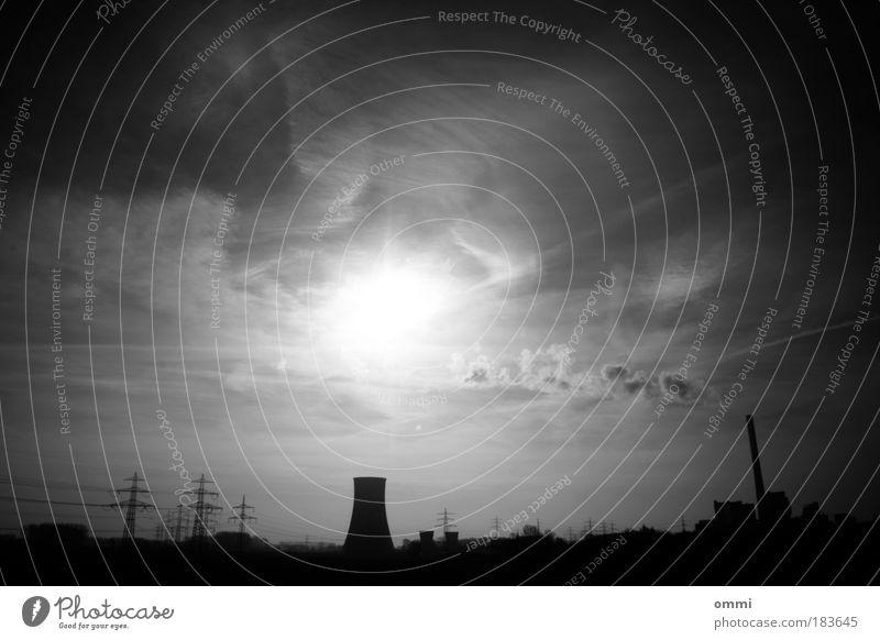 Wolk E. & Co. KG Himmel weiß Sonne Wolken schwarz Ferne dunkel Umwelt grau hell Angst dreckig Energie Energiewirtschaft Klima gefährlich