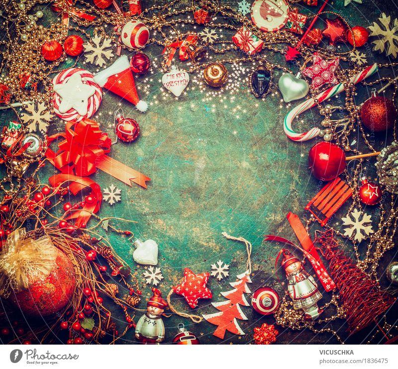 Weihnachten Hintergrund mit festliche Dekoration Weihnachten & Advent Freude Winter Gefühle Hintergrundbild Stil Feste & Feiern Party Stimmung Design