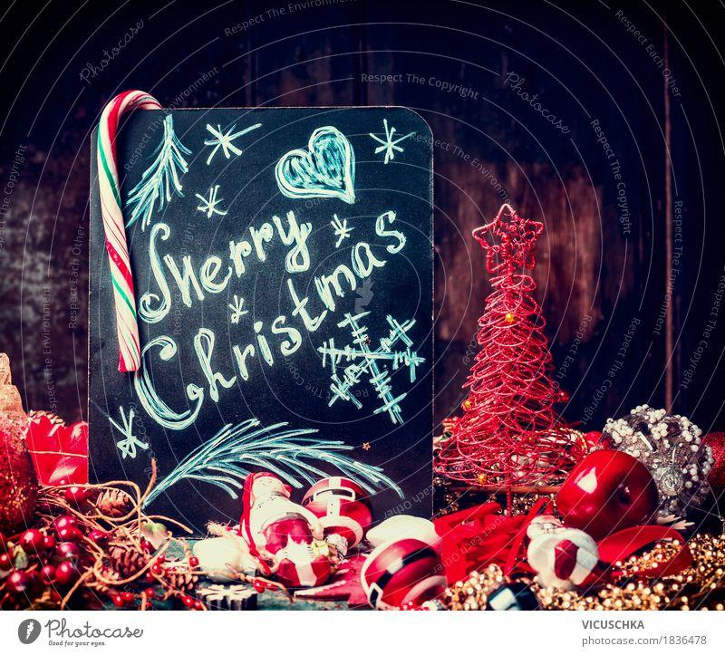 Frohe Weihnachten, Grußkarte Weihnachten & Advent rot Freude Winter Stil Holz Feste & Feiern Design Dekoration & Verzierung Symbole & Metaphern Postkarte