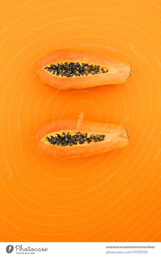 Comme le Papaya... Kunst ästhetisch Teilung Frucht Fruchtfleisch exotisch Fruchtzucker Fruchteis Südfrüchte Obstgarten Mount Eden lecker Appetit & Hunger