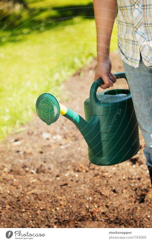 Hand Wasser grün Sommer Garten Arme Kunststoff Vogel Dose Gartenarbeit Gießkanne unkenntlich