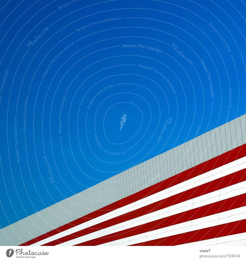 AMERIKA rot Wand Stein Mauer Linie Metall Design elegant Beton groß Fassade Geschwindigkeit Perspektive modern Ordnung ästhetisch