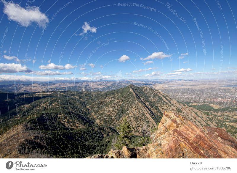 Colorado at your feet. Himmel Natur Ferien & Urlaub & Reisen Landschaft Wolken Ferne Wald Berge u. Gebirge Herbst Freiheit Felsen Horizont frei wandern USA hoch
