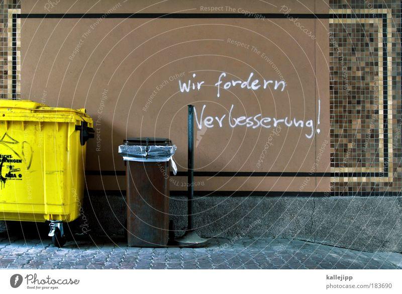 command: papierkorb entleeren Leben Management Lebenslauf reich Haus Arbeit & Erwerbstätigkeit Wand sprechen Graffiti Mauer Fassade Erfolg Häusliches Leben