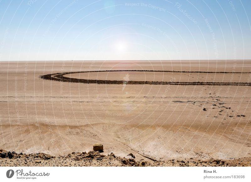 Aliens ? Natur blau Einsamkeit Ferne Leben Freiheit Landschaft Sand träumen Wärme Erde braun Horizont Klima Urelemente